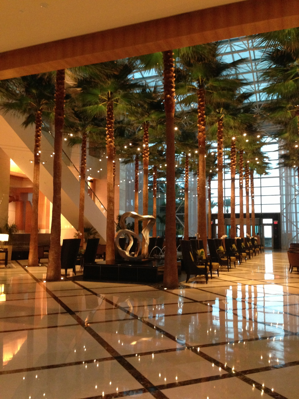Lobby of Westin Diplomat in Hollywood, Florida - host of the Niche Parent 2013 Conference.