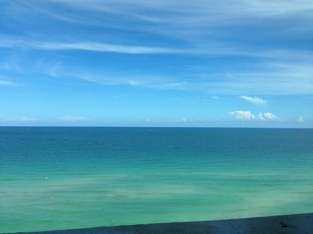 View of the Atlantic Ocean from Westin Diplomat in Hollywood, Florida - host of the Niche Parent 2013 Conference.