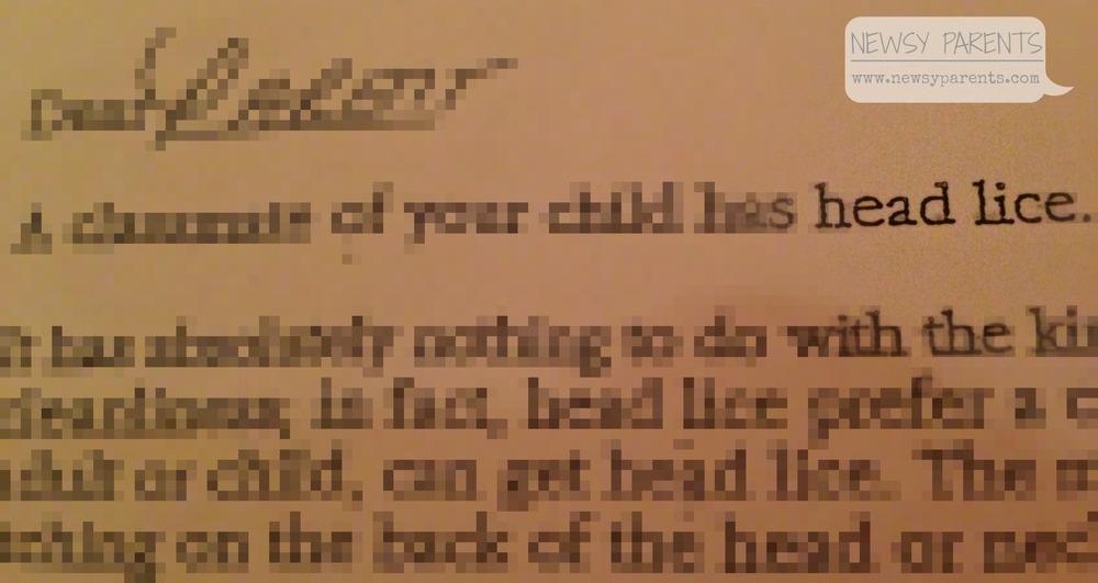 Newsy Parents head lice