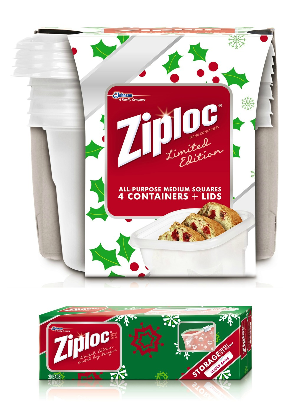 Ziploc Container Bags holiday limited edition collection