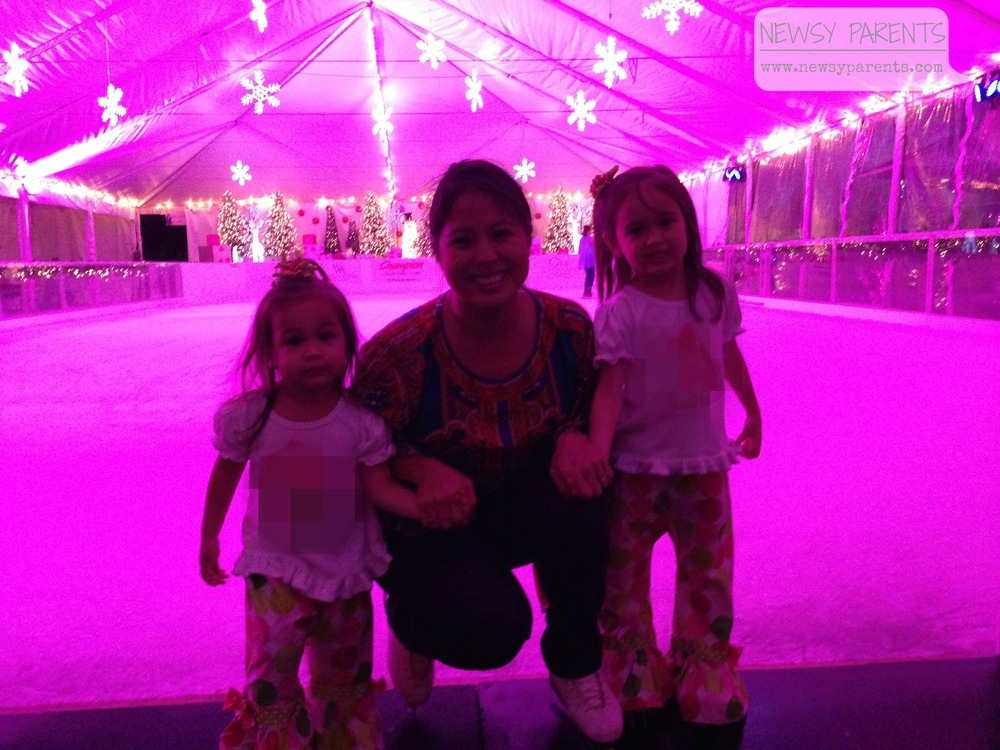 In front of the Pink Rink at the Boca Raton Resort & Club