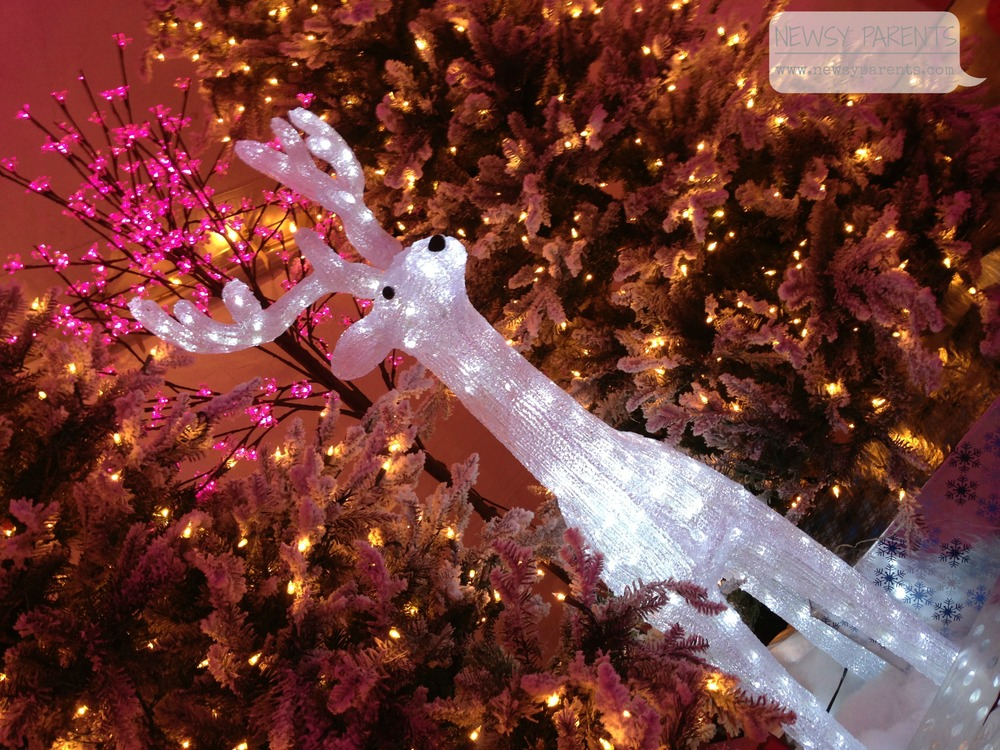 Reindeer decor at Pink Rink at Boca Raton Resort & Club