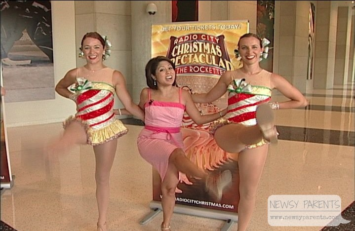 Kicking with the Rockettes when they stopped in Kansas on their Radio City Christmas Spectacular tour