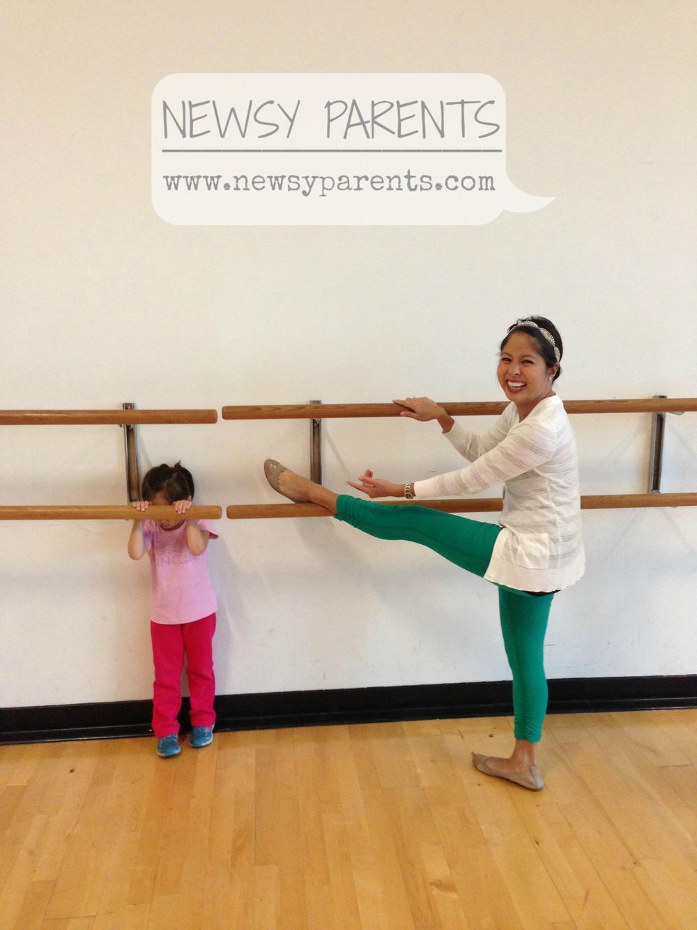 Newsy Parents Rockettes kick class barre