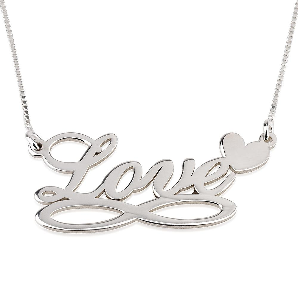 Onecklace sterling silver infinity & heart necklace giveaway