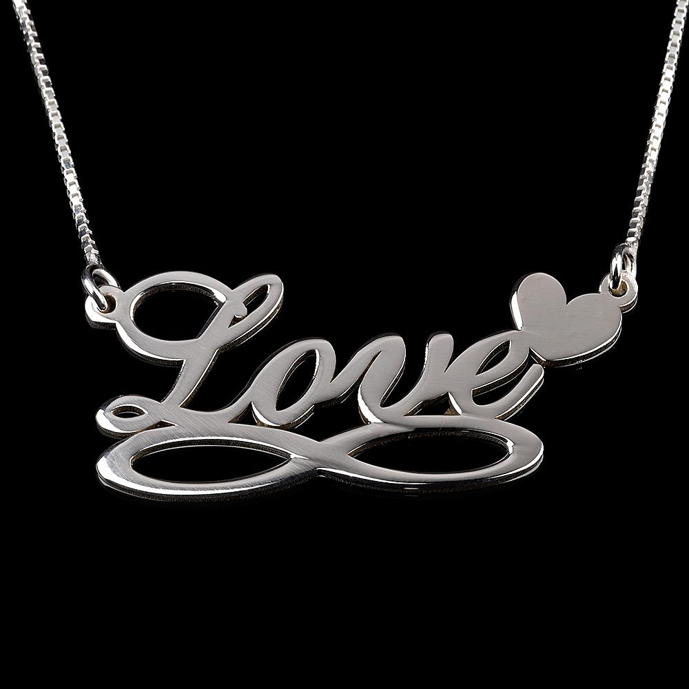 Onecklace sterling silver infinity & heart necklace giveawa