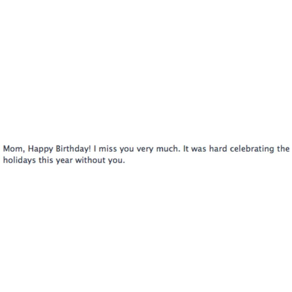 Newsy Parents Happy Birthday Mom