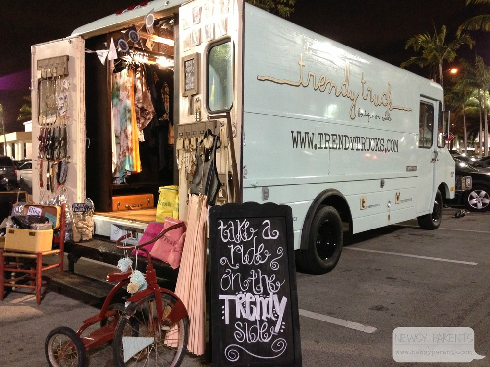 Newsy Parents Trendy Truck South Florida women's boutique on wheels fashion accessories