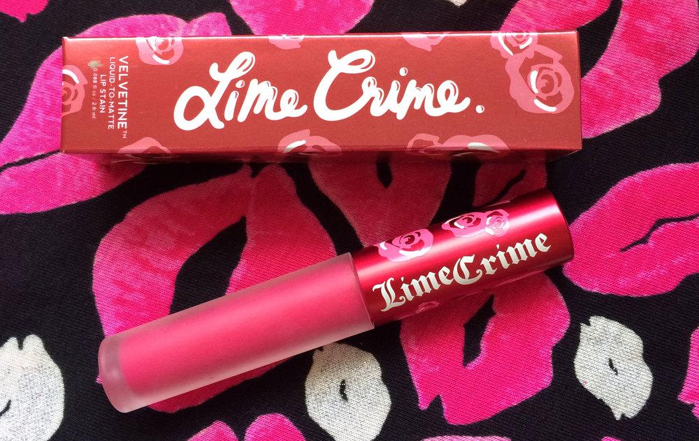 Newsy Parents Lime Crime Pink Velvet Velvetine lip stain