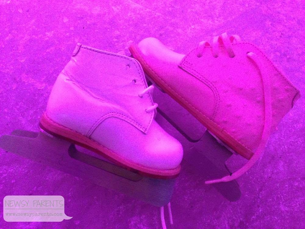 Newsy Parents ice skates baby skates double blades