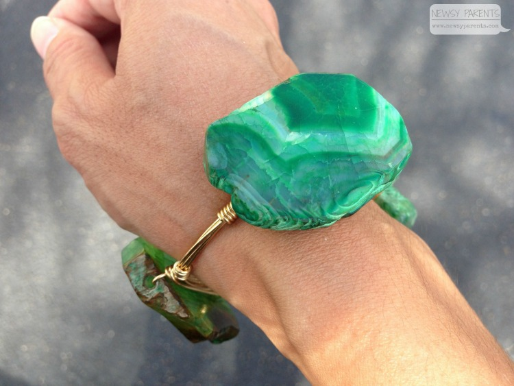 Newsy-Parents-how-to-make-soap-Shoppe-561-West-Palm-Beach-artisan-green-stone-bangle-bracelet