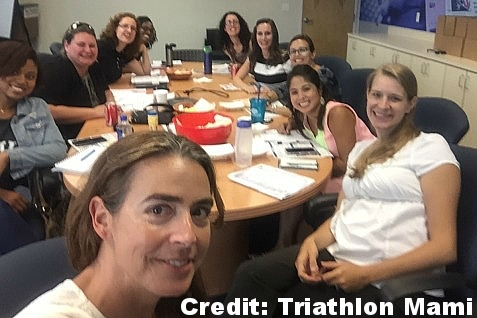 The South Florida Parenting Magazine Mom Approved Panelist at our first meeting. Picture courtesy of Cristina from Triathlon Mami.