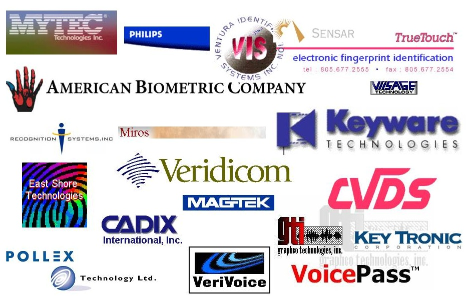 Diagram 3.7         Some Biometric Technology Provider Web Sites Visited