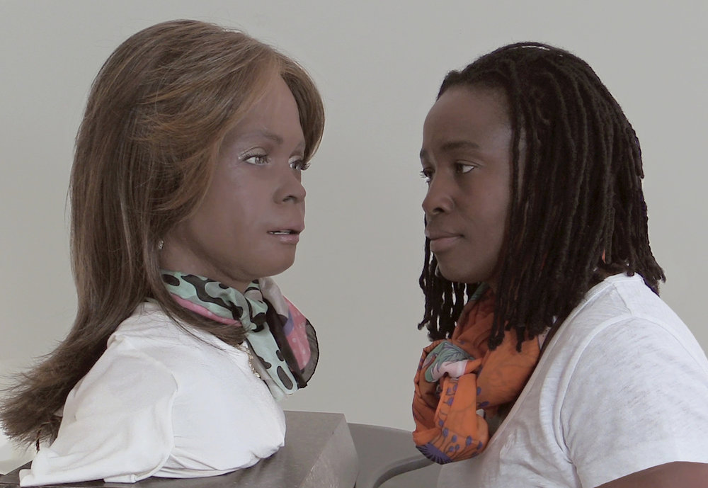 Stephanie Dinkins  and Bina48, Sentients (Video Still), 2015