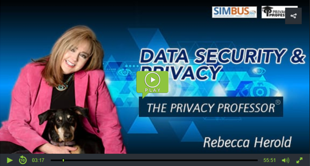 Rebecca Herold (aka The Privacy Professor),  Data Security and Privacy Podcast
