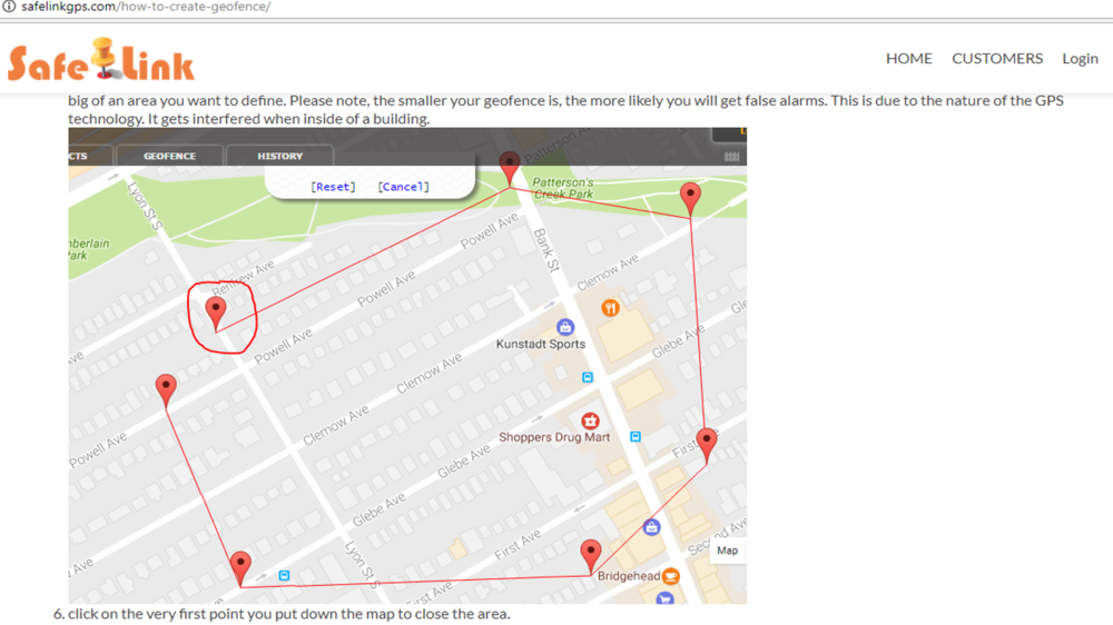 Source: http://safelinkgps.com/how-to-create-geofence/