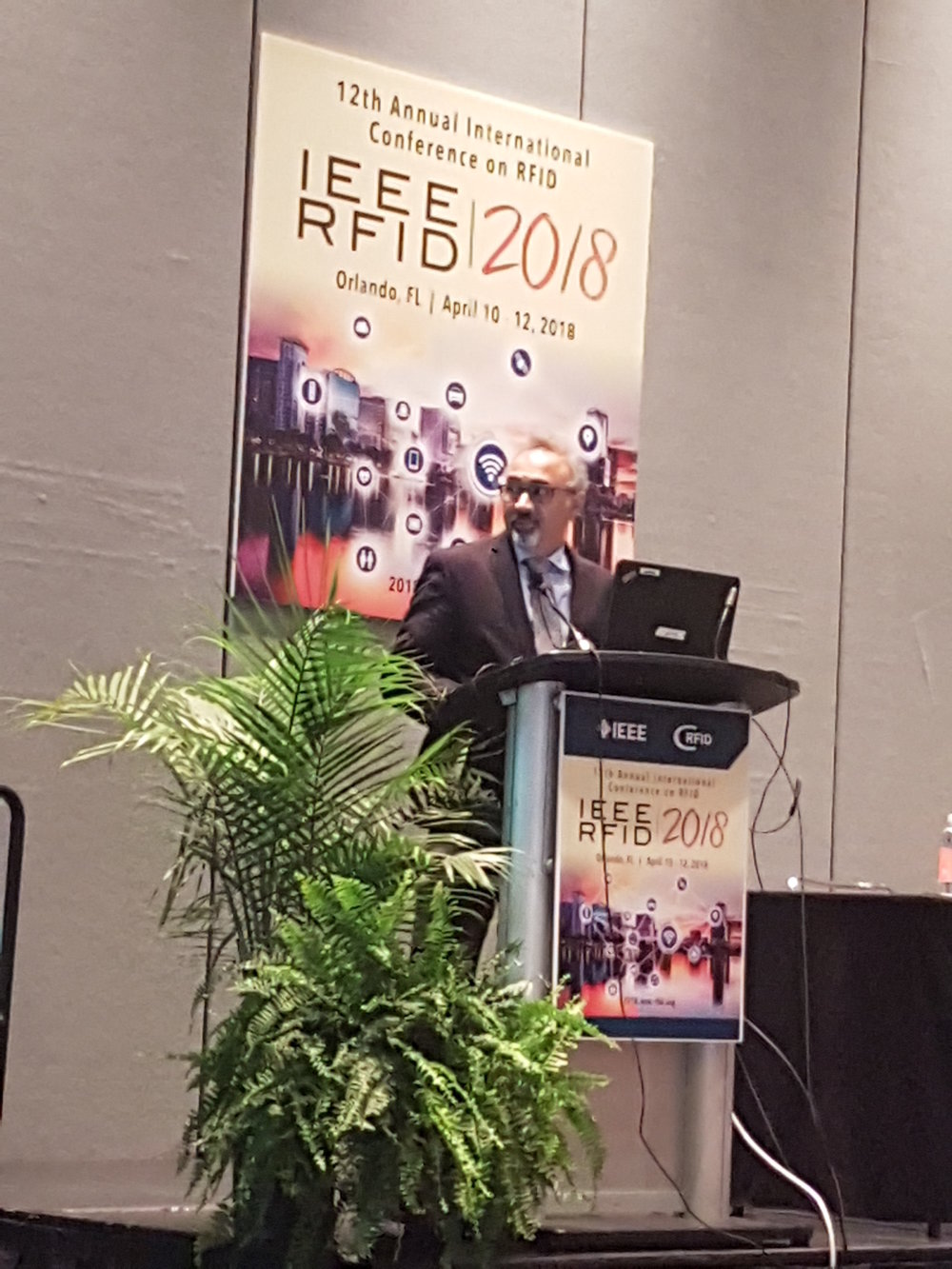 General Chair and Keynote of IEEE RFID 2018, Professor Sanjay Sharma MIT