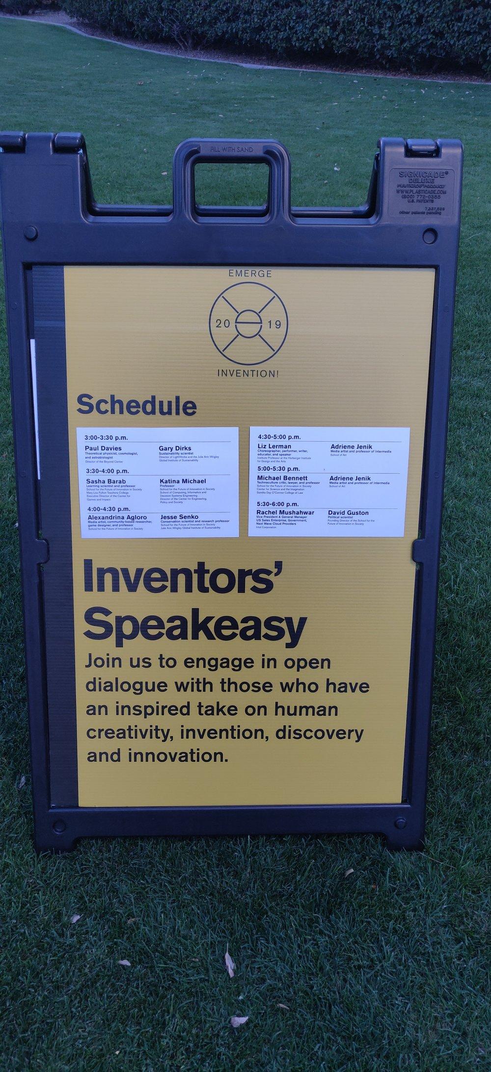 Inventors' Speakeasy