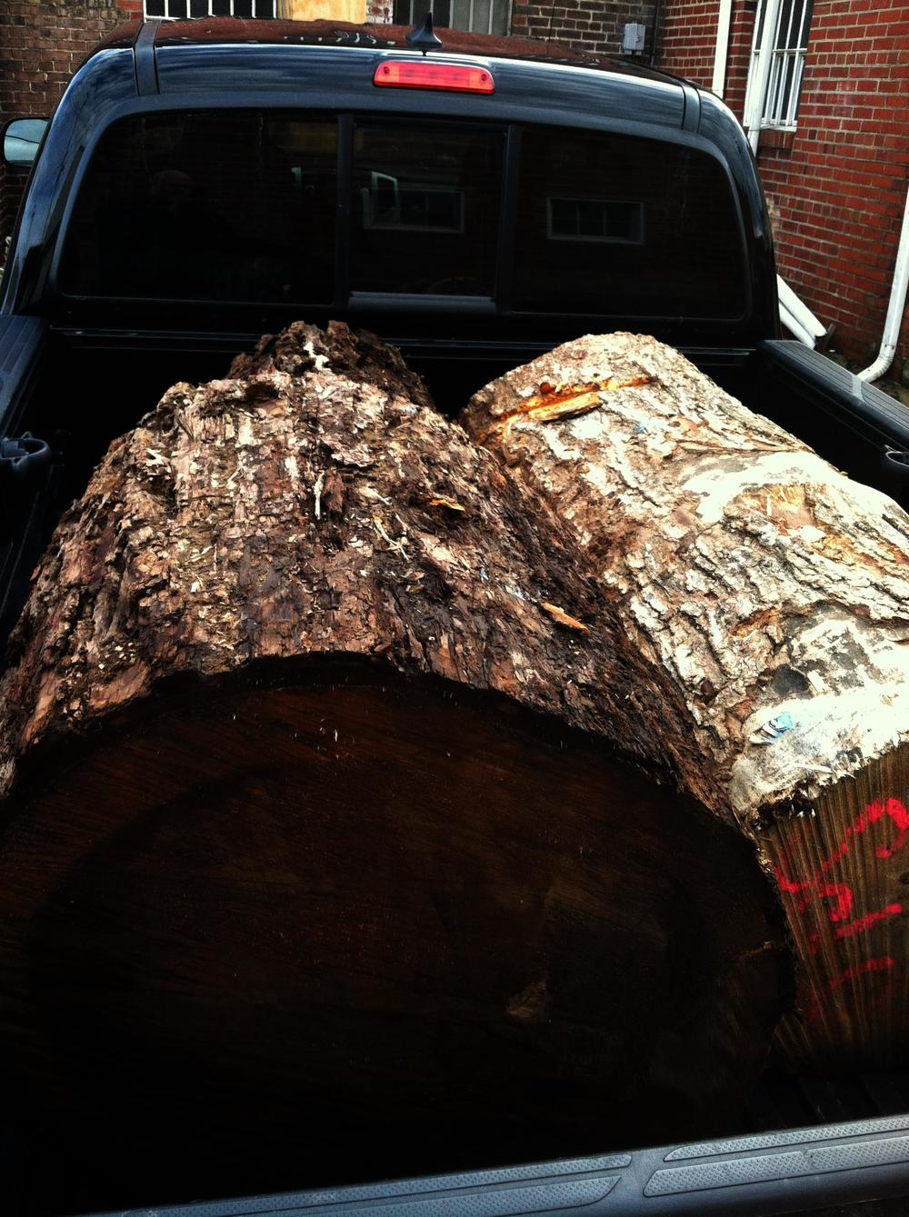 My Logging Truck, fully loaded and probably on my way to shuttle kids around or fetch the groceries.