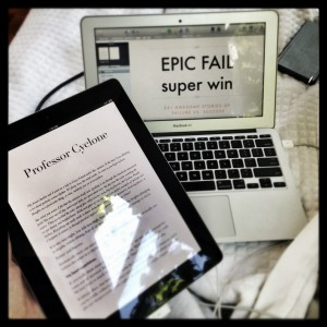 Writing  EPIC FAIL super win     in bed using iBooks Author, and testing on the iPad!