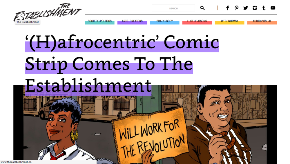 (H)afrocentric Comic Strip Comes to the Establishment