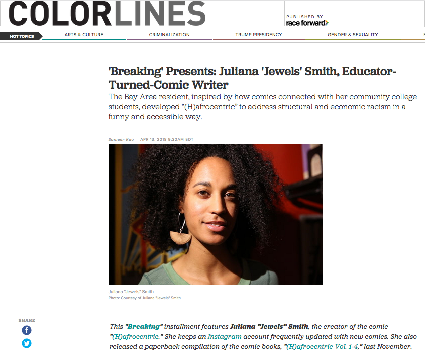 "'Breaking' Presents Juliana ""Jewels"" Smith, Educator Turned Comic Book Writer."