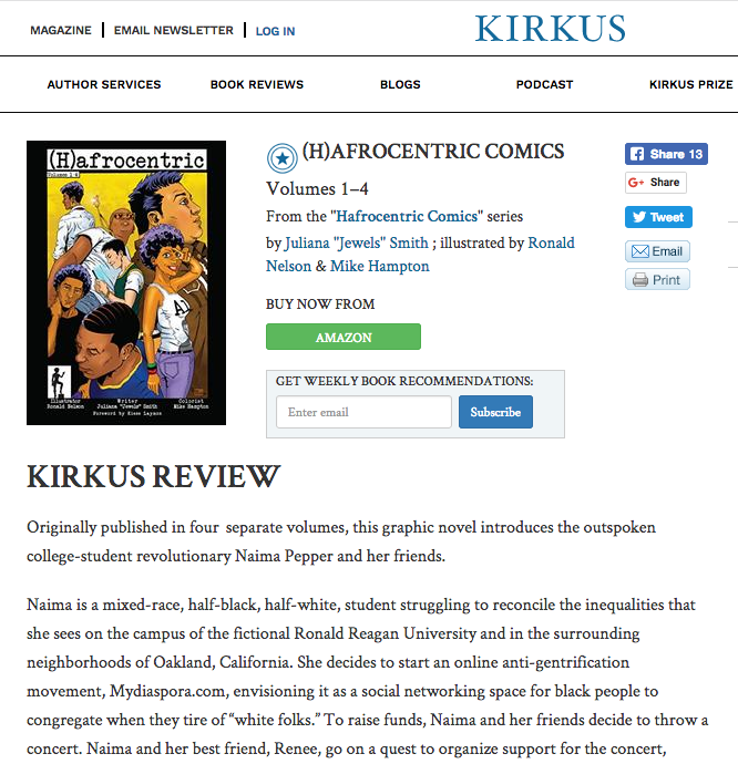 Kirkus Review: (H)afrocentric Vol. 1-4 (PM PRESS)