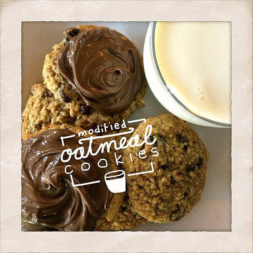 Loaded Oatmeal PB Cookies