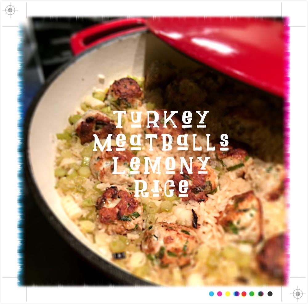 One Skillet Turkey Meatballs & Rice