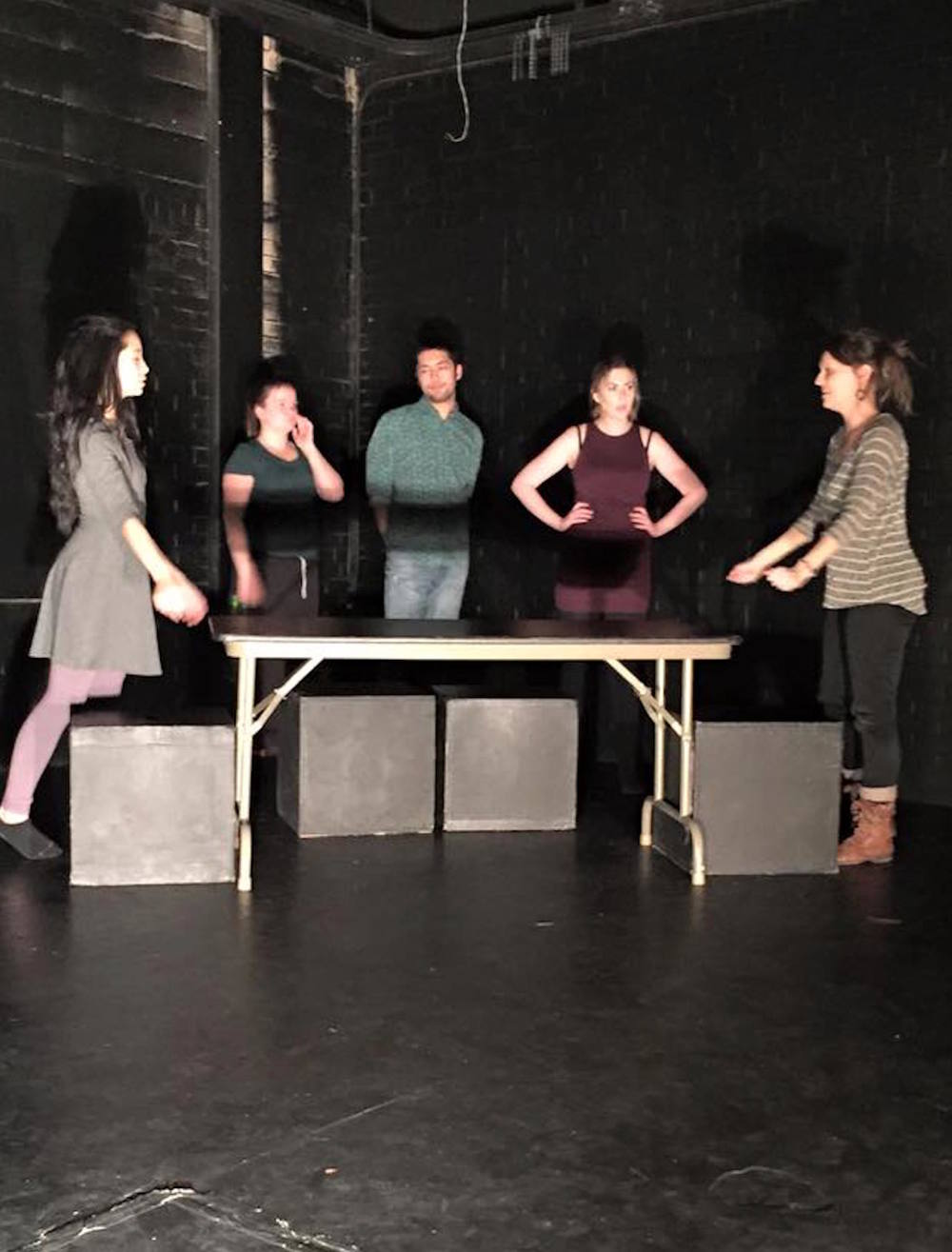 RESIDUE workshop rehearsal  photo by Monica Goff