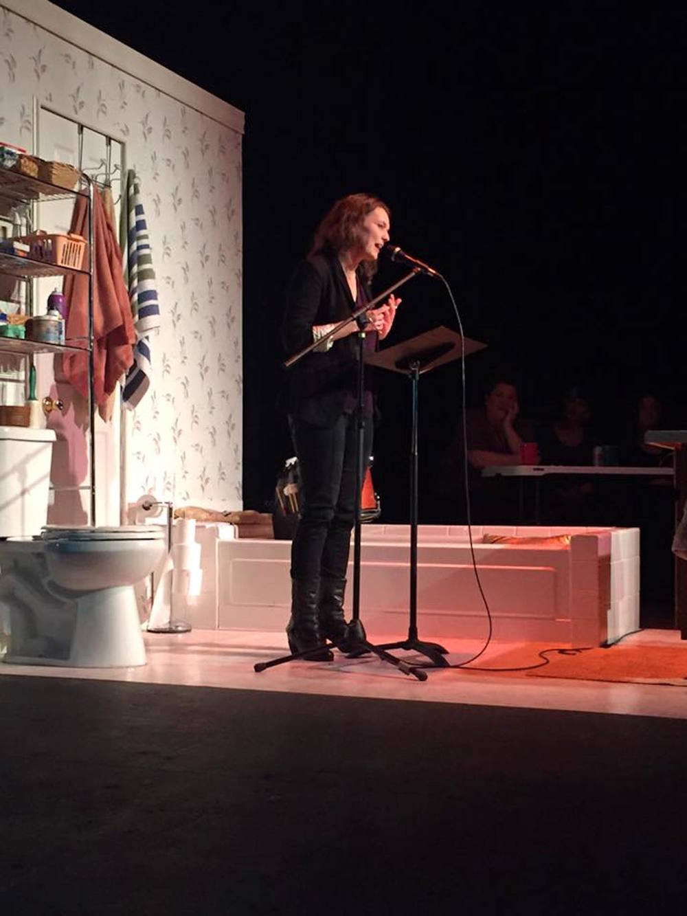 """The Great Debate"" at Buntport Theater  Photo by Katryna Williams"
