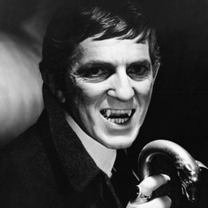 Jonathan Frid, as the Vampire Barnabas Collins in Dark Shadows. Verrrry Scarey!