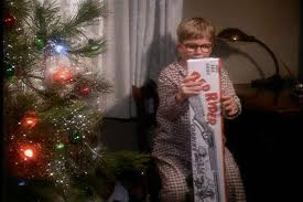 Ralphie's dad gives him an Official Red Ryder Carbine-Action Two-Hundred-Shot Range Model Air Rifle!