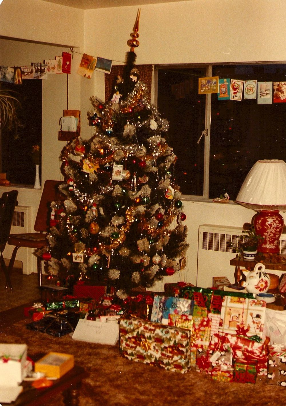 My mom gave me her old Christmas Tree in 1981