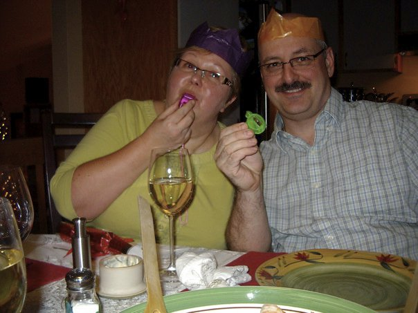 Nobody cares if you have to wear a dumb hat if you get a really great prize! Christmas 2009, our first in New Brunswick. The Christmas cracker tradition continues.