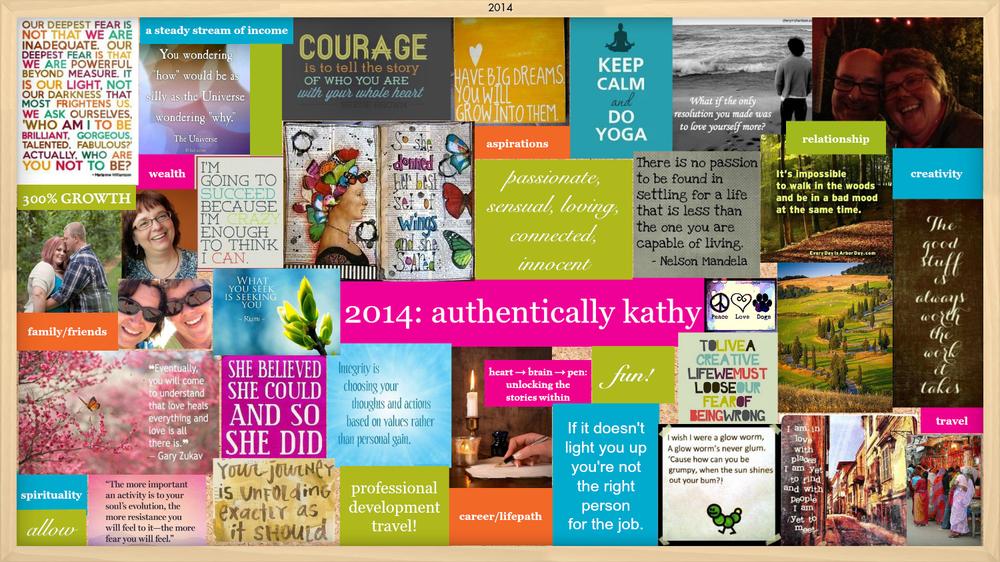 My 2014 vision board