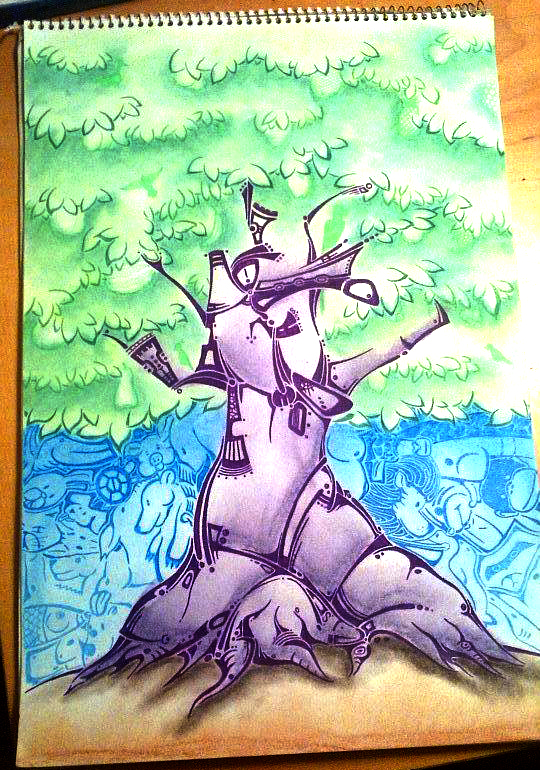 A tree named Daniel illustration by patrick hardy