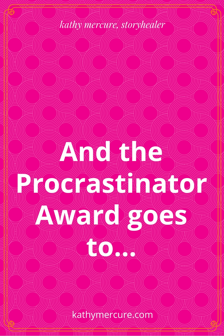 and the procrastinator award goes to...