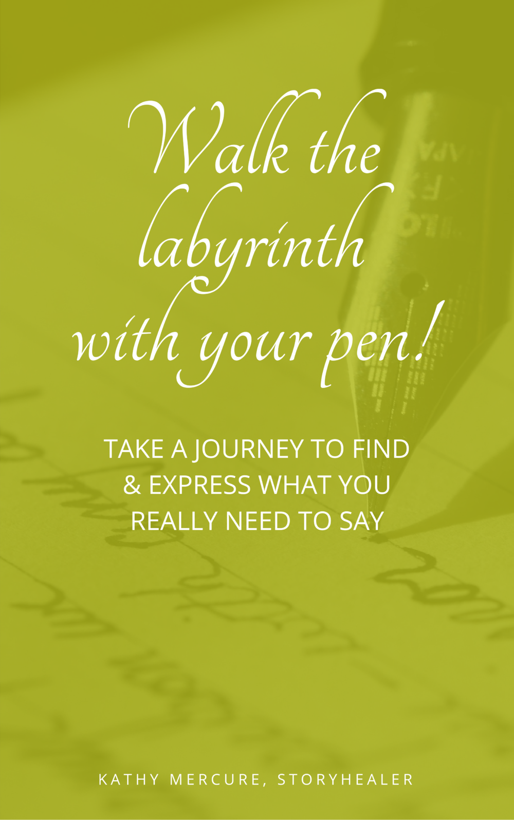 Walk the labyrinth with your pen