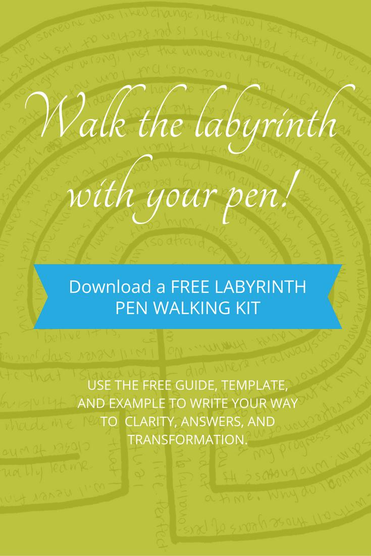 free labyrinth pen walking kit