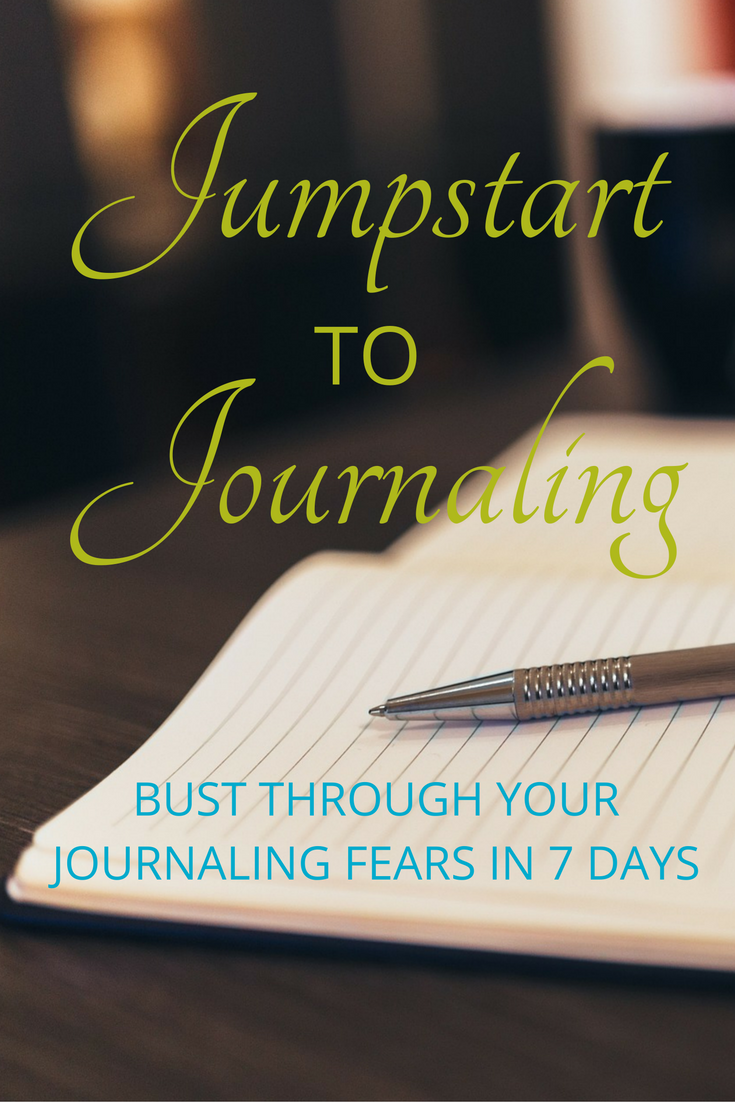 You have fears holding you back, but you're ready to bust through them. Jumpstart to Journaling will get you started.ThisFREE Jumpstart to Journaling email courseis designed to help you create a journal writing practice. In each of the 7 lessons, you get: • to learn different journal writing styles and discover which ones work best for you • daily writing assignments • helpful hints to make journal writing a habit • lots of free downloads to help you write with ease. Click through to sign up today!