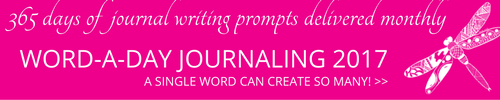 A Word-a-day journaling prompts