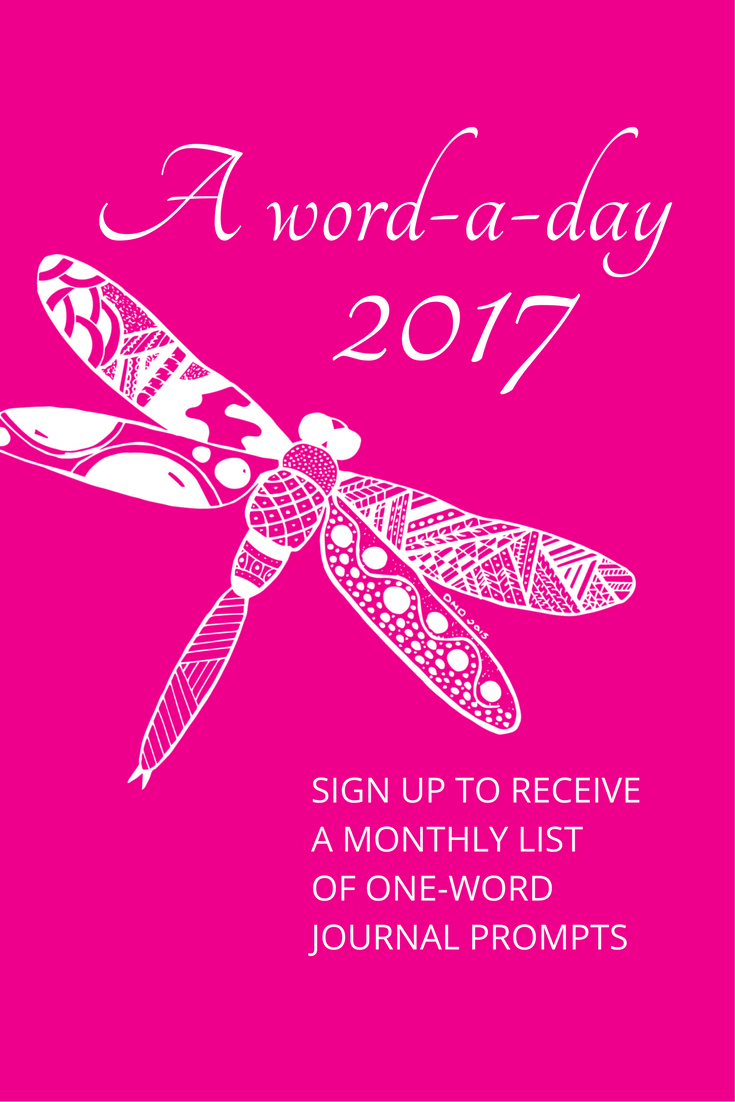 Sign-up to receive a monthly list of one-word journal prompts