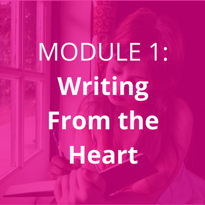 The foundation to all my writing courses. Learn: • how to move through your fears about journaling • the tools you need • how to go deeper in your journaling • 3 journal writing practices • tips and tricks for establishing a journaling practice
