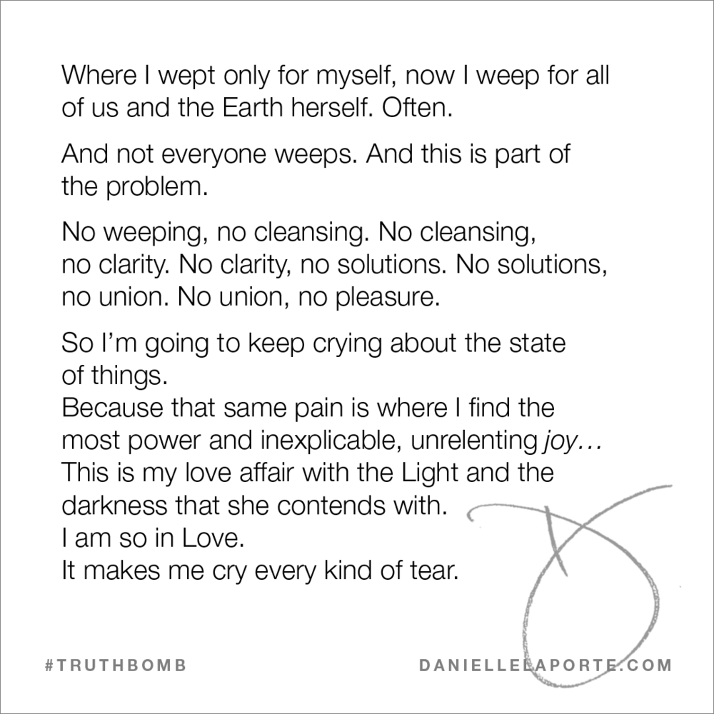 I weep for all of us - danielle laport