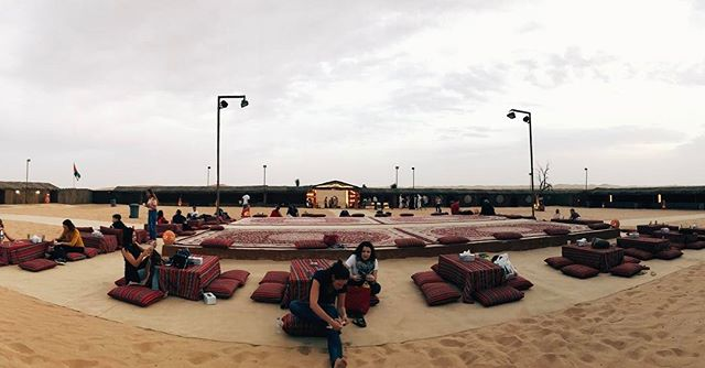 The desert camp site was beautiful!!! #IquoinUAE #abudhabilife #desertsafari #desertcamp