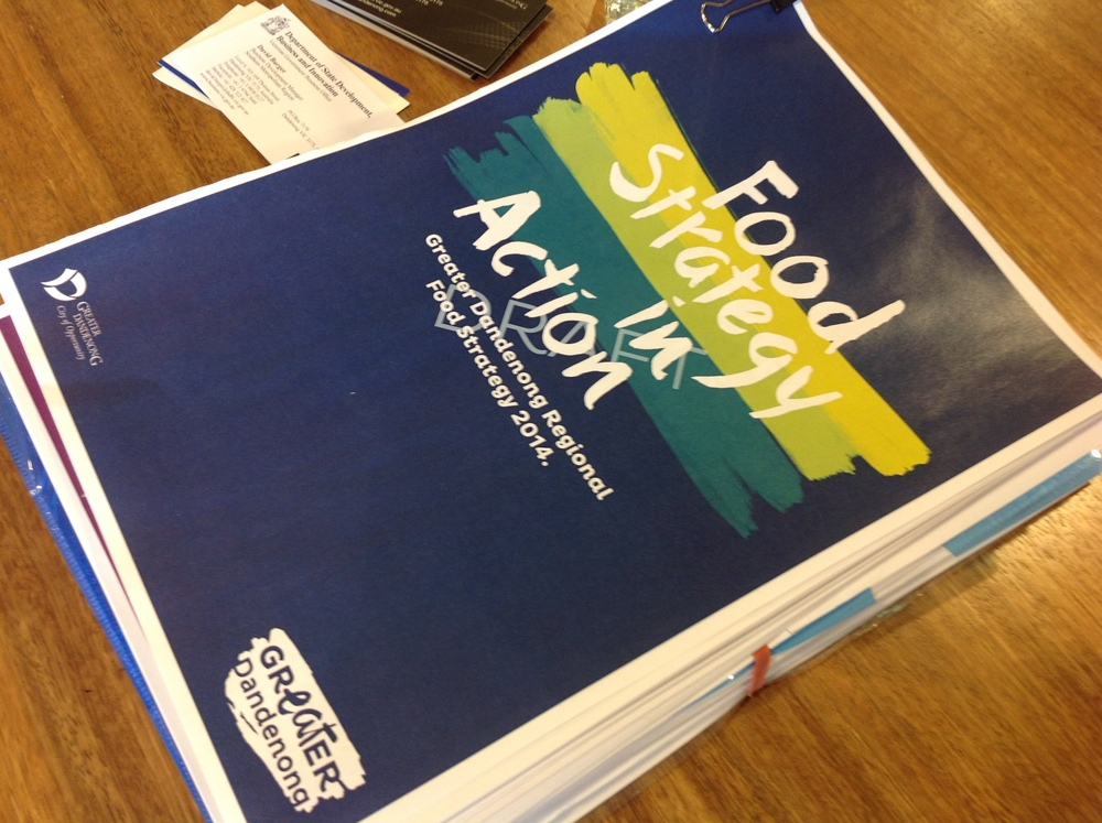 Stratagy Report (You can access this document online). It has set a strong vision for the future of Food in Dandenong