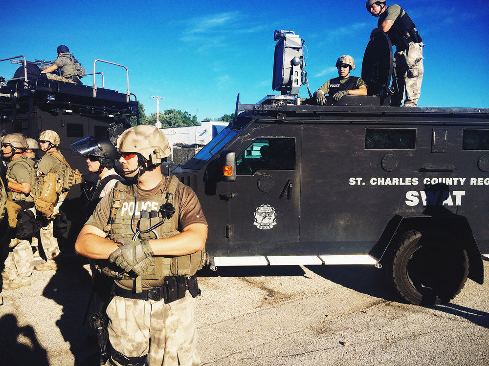 A Charles County SWAT Team is called into Ferguson. Photo: Jamelle Bouie.