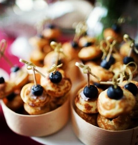 Blueberry Mini Blini Stack