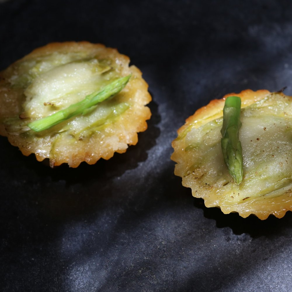 Mini Asparagus and Leek Quiche